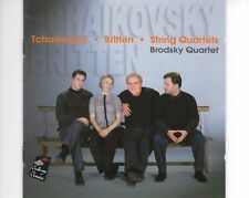 CD BRODSKY QUARTETTchaikovsky - Britten - string quartetsEX+ 2002 (B1383)