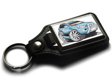 Koolart Cartoon Car Toyota Land Cruiser Prado Leather and Chrome Keyring