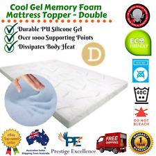 Cool GEL Memory Foam Mattress Topper W/ Bamboo Fabric Cover 8cm Double