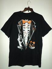 Skeleton 💀🎃Tuxedo Hallowen T-Shirt Black Lg