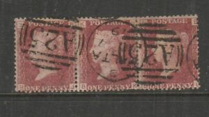 Malta GB Used in 1859/84 1d Red Pl 198, strip of 3, A25 & Malta cancels, SG Z30