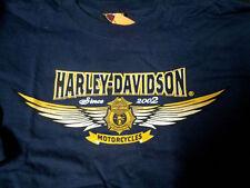 HARLEY DAVIDSON FIREFIGHTER NAVY  RETRO SHIRT (L) NEW HARLEY SHIRT