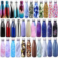 1L/0.5L Edelstahl Trinkflasche Isolierflasche Wasserflasche Thermosflasche Sport