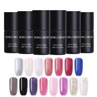 NICOLE DIARY 6ml One-step UV Gellack Funkeln Pailletten Soak Off Nail Art Gel