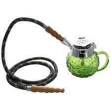 """5"""" MYA Coppa 1 Hose Mini Hookah Pipe Set Green"""