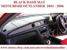 DASH MAT,BLACK DASHMAT MITSUBISHI OUTLANDER 2004-2006, BLACK