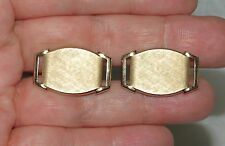 Vintage SWANK Mens Jewelry Cufflinks Gold Tone Brushed Oval