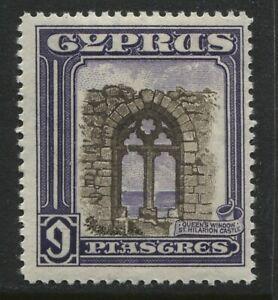 Cyprus KGV 1934 9 piastres mint o.g. hinged