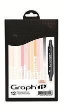 Il graphique marqueur Set - 12 boîte de couleur-couleurs de peau