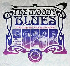 MOODY BLUES - LIVE AT THE ISLE OF WIGHT FESTIVAL 1970, 2014 UK CLEAR vinyl 2LP
