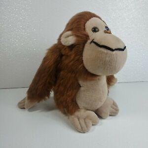 "GIPPER Vintage 1977 Russ Berrie 10"" Ape Brown Plush Gorilla"