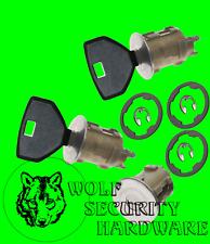 Jeep Wrangler TJ LJ 02-10 Door Rear Key Lock Cylinder Set 2 Keys 1 1/4 dia face