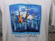 Jazz Classical T-Shirt Size XL Saxophone Trumpet Clarinet