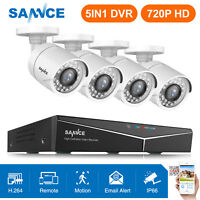 SANNCE 8CH DVR 720P Video Ngiht Vision Outdoor Home Security Camera System H.264