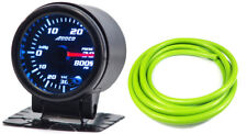 "52mm 2"" Turbo Boost Gauge psi Digital Sensor /Analogue Display + Green Hose"