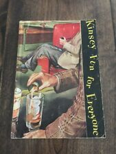 Vintage Kinsey Fun for Everyone Whiskey Recipes & Games Pamphlet Nice!