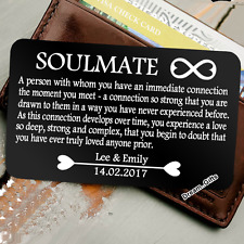 Personalised Soulmate Wallet Insert - I Love You Gifts For Him Her Men Women W28