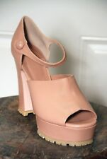 SALE  NIB - RED VALENTINO SHOES LEATHER MARY JANE PLATFORM PUMPS IN NUDE -  40.5