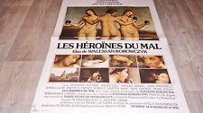 w borowczyk  LES HEROINES DU MAL  ! affiche cinema erotique 1978