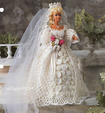 """BRIDE""~Annie's Crochet PATTERN ONLY fits BARBIE FASHION DOLL~SEE PICS"