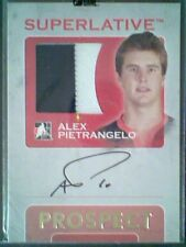 ALEX PIETRANGELO   AUTHENTIC PIECE OF A GAME-USED JERSEY AND AUTOGRAPH /10   SP