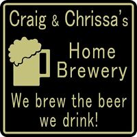 Personalized Home Brewery Bar Craft Beer Pub Gift Sign #36 Custom USA Made