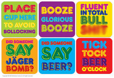 Brainbox Candy Drinks coasters beer mats funny rude joke novelty gift humorous