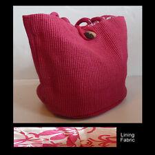 Pink Jute Sisal Weave Bag