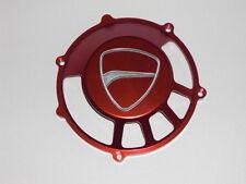 Ducati Kupplungsdeckel offen rot eloxiert, Ergal, Logo gefräst, neu