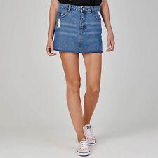 SoulCal Womens Deluxe Denim Skirt Zip Fastening Open Pocket Design Size UK 16