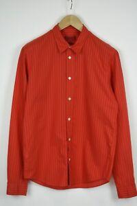HUGO BOSS RED LABEL SHORT LENGTH ELVI Men's MEDIUM Chalk Stripe Shirt 34406-GS