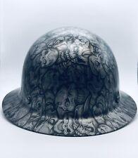 Msa Skullgard Fiberglass Full Brim Hard Hat Withfas Trac 475407 Skulls Design New