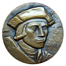 Art-medal. lawyer, philosopher, writer Thomas More. Renaissance England UK N.125