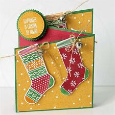 Christmas Socks Metal Cutting Dies Scrapbooking Craft Stockings Cutting Stencil