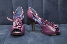 Madden Girl womens purple leather open toe dress shoes size 9, heels4 inch