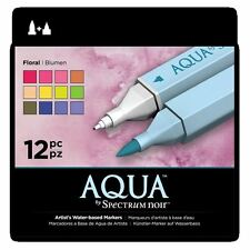 Spectrum Noir Aqua Water Based Marker Art Craft Marker Pens - Floral 12 Pack