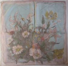 -Double  Foulard  JEAN DESSES   soie mousseline  TBEG  vintage scarf  75 x 75 cm
