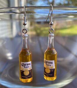 AU Seller 3D Corona Beer Bottle Booze Alcohol Pendant Hook Charm Earrings