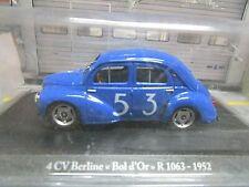 RENAULT 4CV 4 CV 1063 Berline Bol d´Or 1952 #53 Racing Eligor Blister 1:43