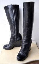 Wedge Clubwear Zip Boots for Women