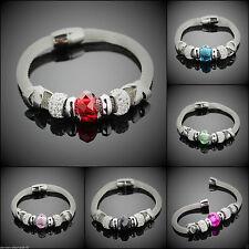 Modeschmuck-Armbänder aus Edelstahl mit Kristall für Damen
