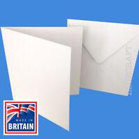 "White 5 x 5"" 130mm Square Card Blanks & Envelopes - 25's 50's 100's 250's"