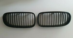 BMW 3 SERIES E92 E93 LCI M PERFORMANCE BLACK KIDNEY GRILLS - 51712158984