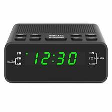 Digital Alarm Clock Radio, Alarm Clocks for Bedrooms with Am/Fm Radio, Sleep Tim