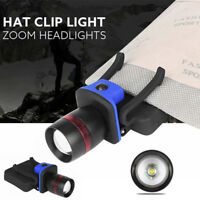 XPE LED Clip-on Cap Hat Head Light Torch Camping Hiking Fishing Outdoor Headlamp