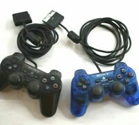 Lot of 2 Sony Playstation 2 PS2 OEM DualShock Analog Controllers SCPH-10010