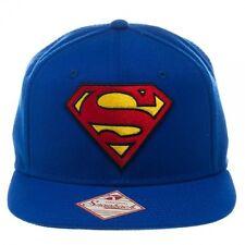 OFFICIAL DC COMICS SUPERMAN CLASSIC SYMBOL BLUE SNAPBACK CAP (BRAND NEW)