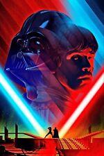 Luke Skywalker vs Darth Vader Art Poster Star Wars - NEW - 11x17 13x19