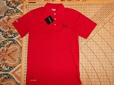 MENS SMALL BRIGHT RED PING HFM GOLF CLASSIC LOGO POLO SHIRT - NWT