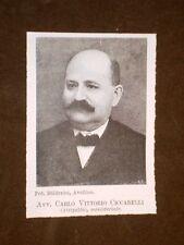 Deputato Avvocato Carlo Vittorio Ciccarelli di Atripalda